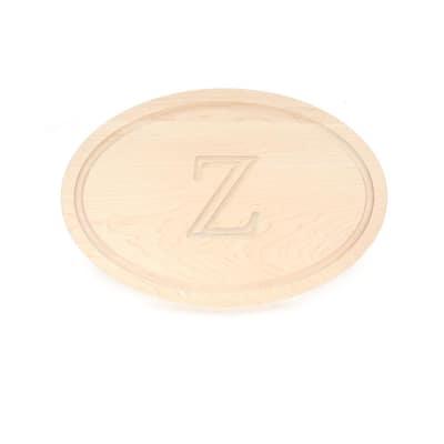 Oval Maple Cutting Board Z