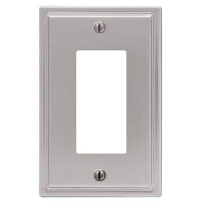 Moderne 1 Gang Rocker Steel Wall Plate - Brushed Nickel