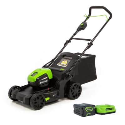 PRO 17 in. 60-Volt Battery Cordless Lawn Mower with 4.0 Ah Battery and Charger