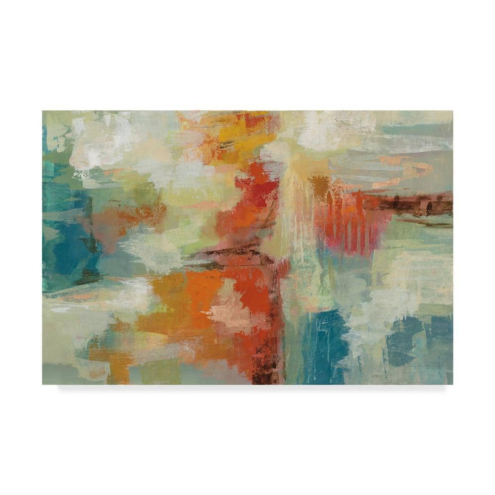 Trademark Fine Art 12 In X 19 In Coral Reef By Silvia Vassileva Floater Frame Abstract Wall Art Wap06775 C1219g The Home Depot