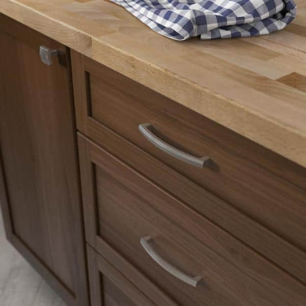 Liberty Textured Arched 5 1 16 In 128mm Center To Center Satin Nickel Drawer Pull P39358c Sn Cp The Home Depot