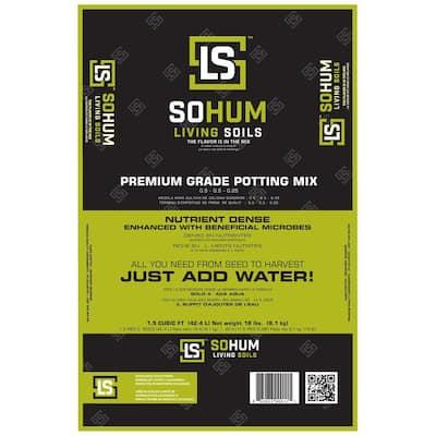 SOHUM Living Soil Premium Grade Potting Mix Just Add Water Organic Potting Soil Plant Food