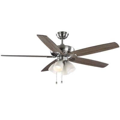 62 in. Bailey's Bluff Brushed Nickel LED Ceiling Fan with Light Kit
