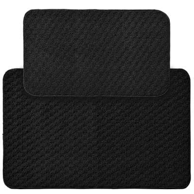 Town Square Black 2 ft. x 3 ft. 4 in. 2-Piece Rug Set