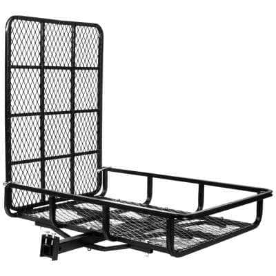 500 lb. Capacity 49 in. x 32 in. Steel Folding Ramp-Style Hitch Mounted Cargo Carrier for 2 in. Receiver