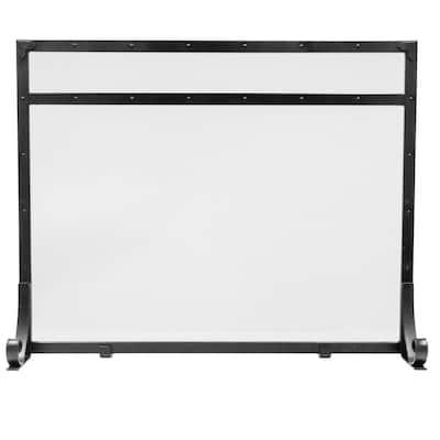 Selene 1-Panel Fireplace Screen in Black