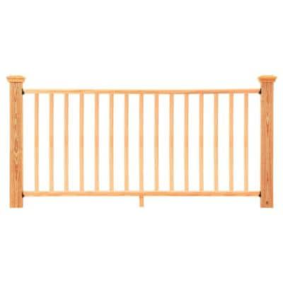 6 ft. Cedar-Tone Southern Yellow Pine Moulded Rail Kit with SE Balusters