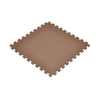 Brown 24 in. x 24 in. EVA Foam Non-Toxic Solid Color Interlocking Tiles (240 sq. ft. - 60 tiles)