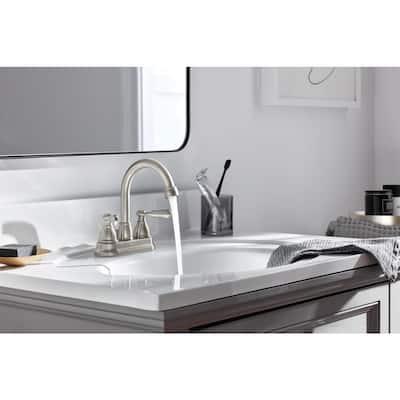 Elmhurst 4 in. Centerset 2-Handle Bathroom Faucet in Brushed Nickel