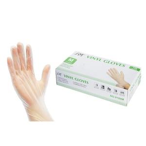 Medium Clear Disposable Vinyl Multi-Purpose Gloves (100-Count)