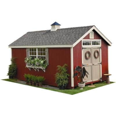 Colonial Williamsburg 10 ft. x 18 ft. Wood Storage Shed DIY Kit with Floor Kit