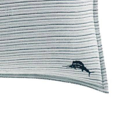 Raw Coast Blue Striped Cotton 16 in. x 20 in. Throw Pillow