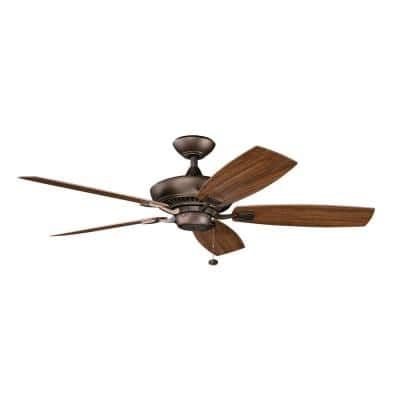Canfield Patio 52 in. Outdoor Weathered Copper Downrod Mount Ceiling Fan