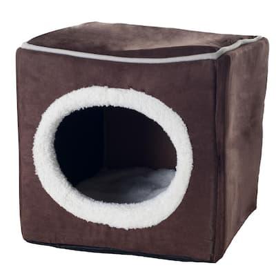 Small Dark Coffee Cozy Cave Pet Cube