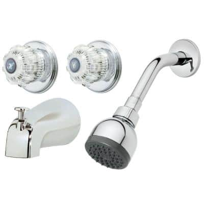 2-Handle 1-Spray Tub and Shower Faucet in Chrome (Valve Included)