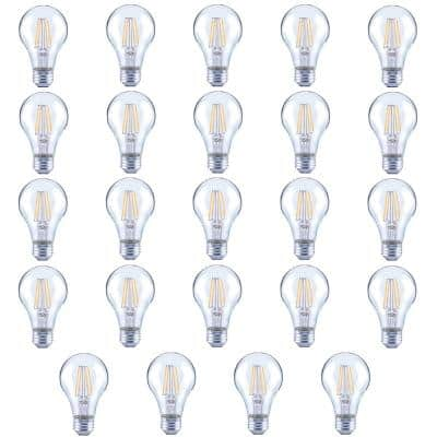 40-Watt Equivalent A19 Clear Glass Vintage Decorative Edison Filament Dimmable LED Light Bulb Soft White (24-Pack)