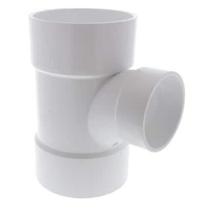 6 in. x 6 in. x 4 in. PVC DWV All Hub Sanitary Reducing Tee