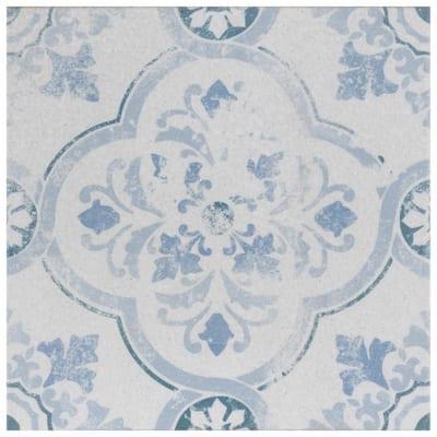 Klinker Alcazar Celosia Encaustic 12-3/4 in. x 12-3/4 in. Ceramic Floor and Wall Quarry Tile (1.13 sq. ft./Each)