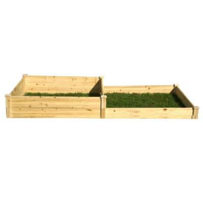 4 ft. x 8 ft. x 5.5 in. to 11 in. Wood Raised Garden Bed
