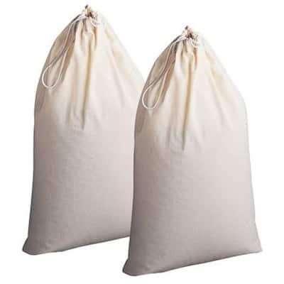 White Cotton Luandry Bag Hamper Liners
