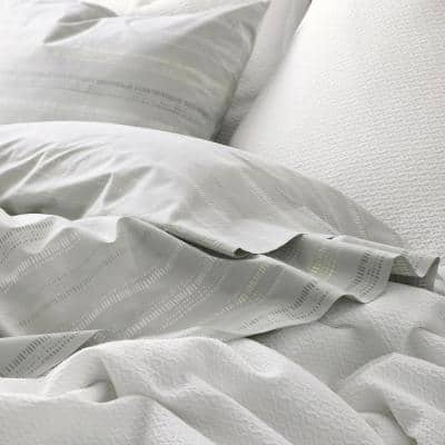 Dotted Stripe 200-Thread Count Organic Cotton Percale Sham