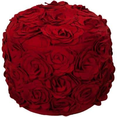 Rosemary Bright Red Accent Pouf