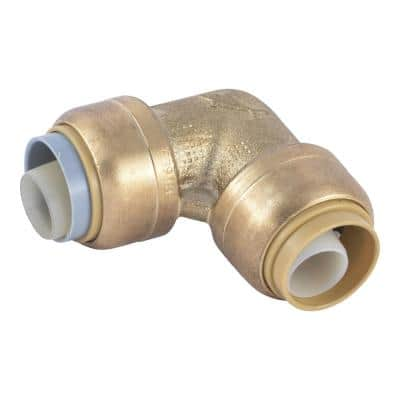 1/2 in. Push-to-Connect Brass 90-Degree Polybutylene Conversion Elbow Fitting