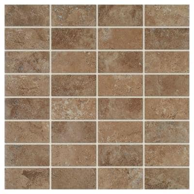 Travisano Venosa 12 in. x 12 in. x 8 mm Glazed Porcelain Mosaic Floor and Wall Tile (0.96 sq. ft./Each)