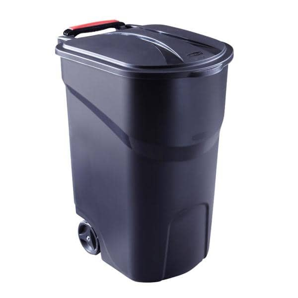 Rubbermaid Roughneck 45 Gal Black, Rubbermaid Outdoor Garbage Can With Lid