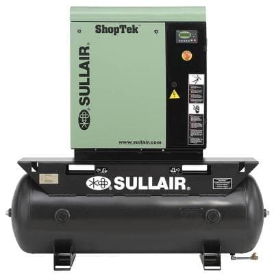 ShopTek 10 HP 1-Phase 230-Volt 80 gal. Stationary Electric Rotary Screw Air Compressor