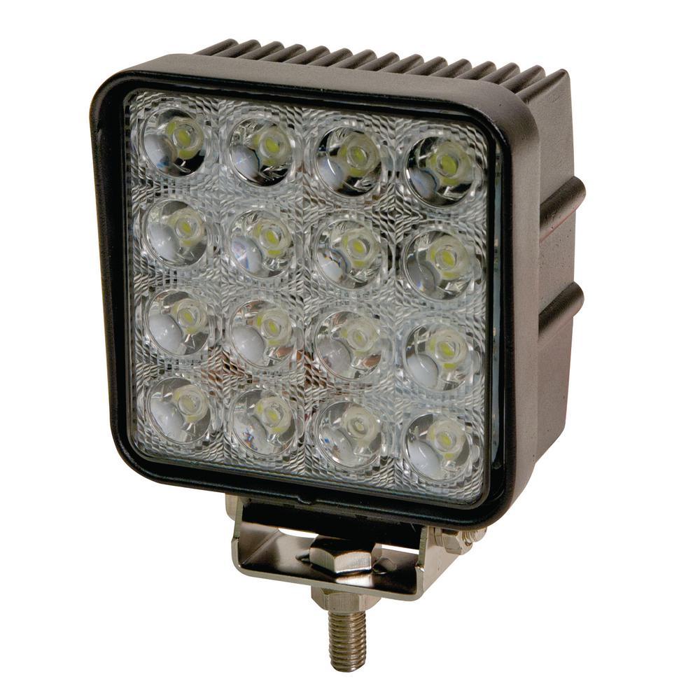 4 in. Square 16 LED Flood Worklight
