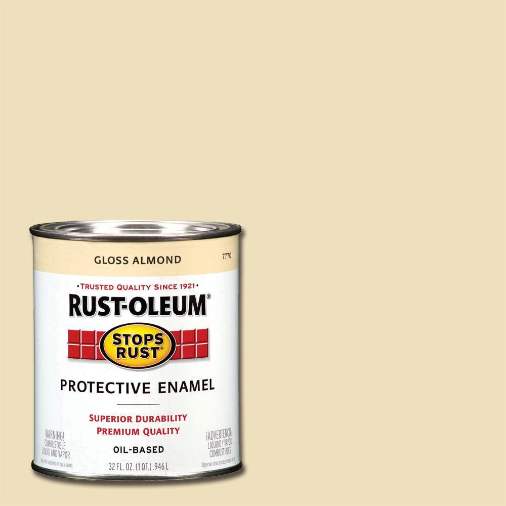 1 qt. Protective Enamel Gloss Almond Interior/Exterior Paint