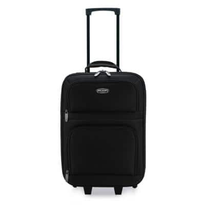 19.5 in. Black Carry-On Rolling Suitcase with Protective Foam Padding