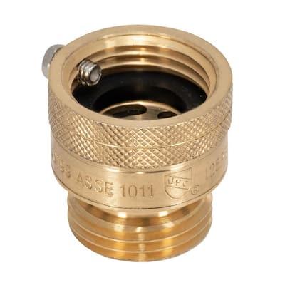 3/4 in. FHT x MHT Brass Hose Bibb with Anti-Siphon Vacuum Breaker