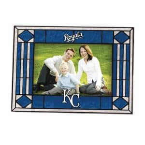 MLB 4 in. x 6 in. Gloss Multicolor Art Glass Royals Picture Frame
