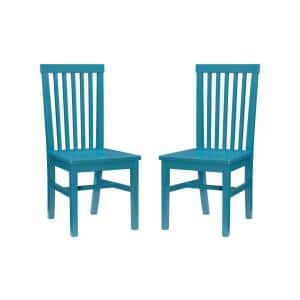 Alice Teal Wood Back and Seat Dining Chair (Set of 2)