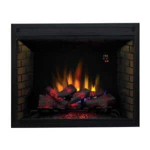39 in. Traditional Built-in Electric Fireplace Insert