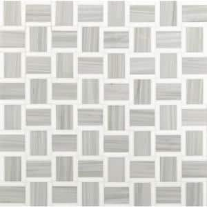 Peoria 12 in x 12 in. x 10 mm Polished Marble Mosaic Tile (10 sq. ft. / case)