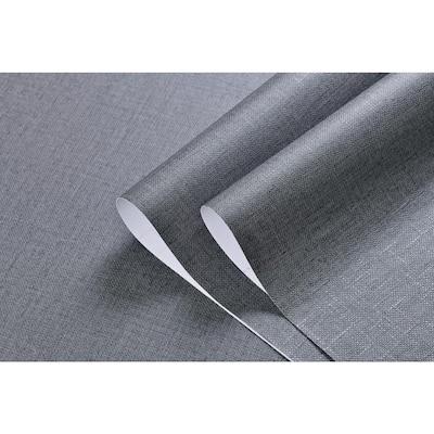 2 ft. x 33 ft. Linen Texture Vinyl Peel and Stick Strippable Wallpaper (1-Roll)