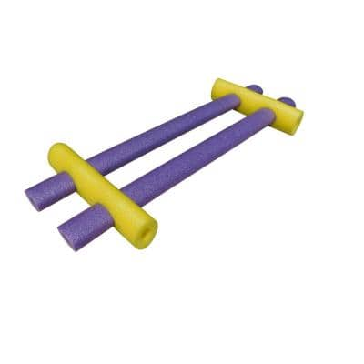 Yellow and Purple Foam Custom Connecting Pool Float (4-Pack)