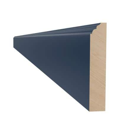 Blue Painted Plywood Shaker Stock Assembled Base Kitchen Cabinet Furniture Molding (96 in. W x 0.75 in. D)