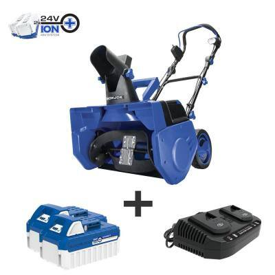 21 in. 48-Volt Single-Stage Cordless Electric Snow Blower Kit with 2 x 4.0 Ah Batteries Plus Charger