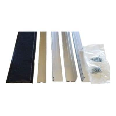 Rodent Block Garage Door Bottom Seal Kit with L-Shaped 1-3/8 in. Aluminum Retainer and EPDM Rubber Seal for 2-Car Garage