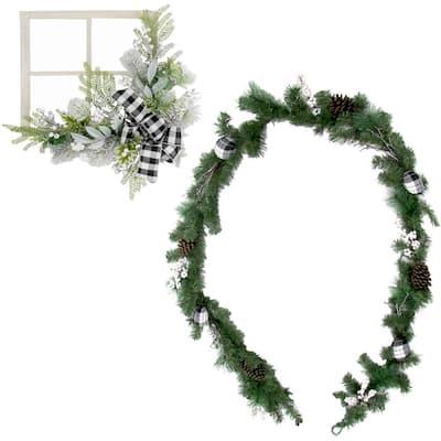 9 ft. Christmas Garland Set, Green