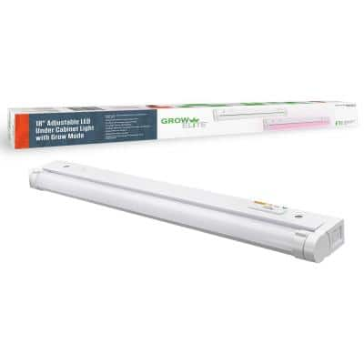 18 in. 9-Watt LED Under Cabinet Light Grow Light Adjustable Beam Angle 3 Color Options and Grow Mode Indoor Gardening