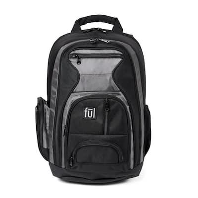 Free Fallin' Padded 20 in. Black Laptop Backpack