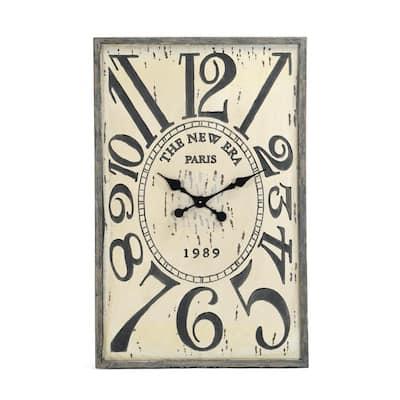 New Era Paris Clock in Antique Cream Finish