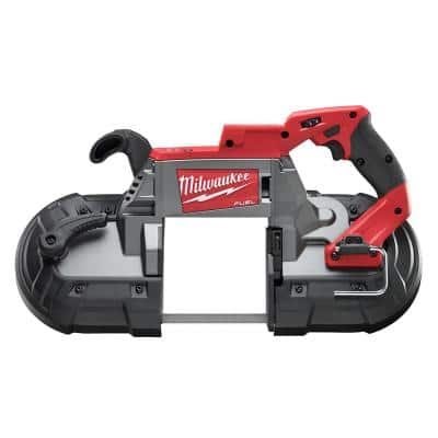 M18 FUEL 18-Volt Lithium-Ion Brushless Cordless Deep Cut Band Saw and 4-1/2 in./5 in. Grinder (2-Tool)