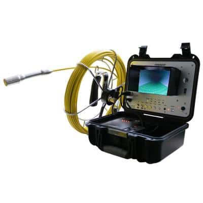 Portable 130 ft. cable, Color Sewer/Drain/Pipe inspection Camera W/ 512Hz Sonde Transmitter