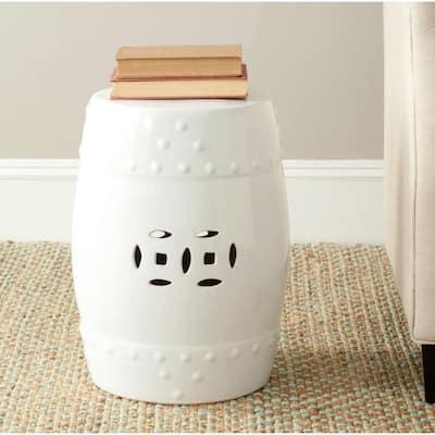 Modern Ming White Ceramic Garden Stool